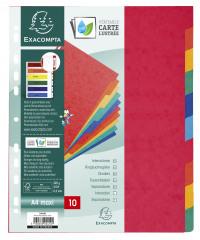 Exacompta Pressboard Dividers 10-Part  A4 Maxi 2410E