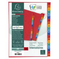 Exacompta Europa Coloured Pressboard Index 20-Part A-Z A4 4803Z