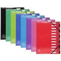 Iderama 12 Part File Premium Pressboard A4 Assorted Ref 53929E [Pack 8]