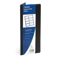 Exacompta Guildhall Classic Business Card Holder 128 Card Black CBC4P