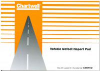 Exacompta Chartwell Vehicle Defect Report Pad CVDR1