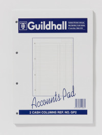 Exacompta Guildhall 2-Column Cash Account Pad A4 GP2
