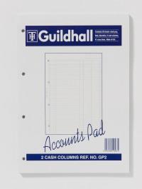 Guildhall 2-Column Cash Account Pad A4 GP2