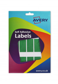 Avery Coloured Labels Wallet 25x50mm Grn 16-314 (330 Labels)