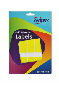 Avery Coloured Labels Wallet 25x50mm Yllw 16-315 330 Labels