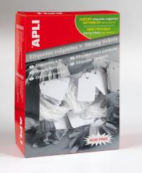 Value Apli Strung Tickets 22x35mm White (PK500)