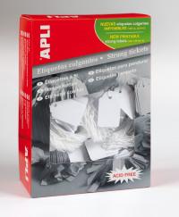 Value Apli Strung Tickets 36x53mm White (PK500)