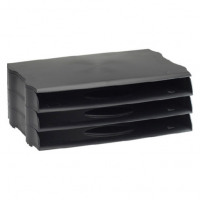 Avery Letter Tray Wide Entry Black