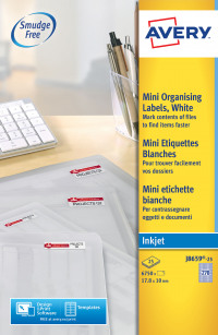 Avery White Mini Labels 17.8x10mm J8659-25 (6750 Labels)
