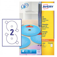 Avery Classic Size CD Labels 117mm DIA L6043-100 (200Labels)