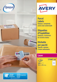 Avery Blockout Shipping Labels 99x93mm L7166-100 (600Labels)