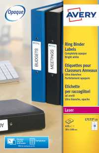Avery Filing Labels Ring Binder 100x30mm L7172-25(450Labels)