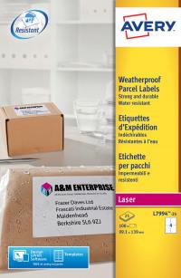 Avery Weatherproof Ship Label 99x139mm L7994-25 (100 Labels)