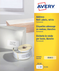 Avery Personal Label Printer Roll 89x36mm R5013 (280 Labels)