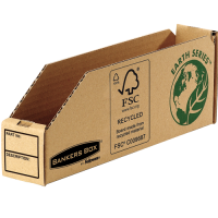 Bankers Box by Fellowes Parts Bin Corrugated Fibreboard Packed Flat W51xD280xH102mm Ref 07351 [Pack 50]