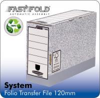 Fellowes System 120mm Folio Trans File Grey PK10