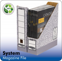 Fellowes System A4 Magazine File Grey 0186004 PK10