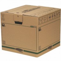 Fellowes Bankers Box Moving Box Large Brown/Green (Pack of 5) 6205301