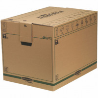 Fellowes Bankers Box Moving Box X-Large Brown/Green (Pack of 5) 6205401