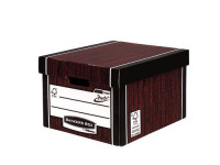 Fellowes Bankers Box Premium Presto Classic Storage Box Woodgrain (Pack of 10) 7250501