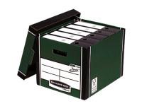 Fellowes Bankers Box Premium Presto Storage Box Green/White (Pack of 10) 7260801