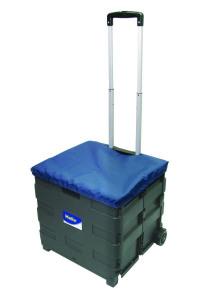 Helix Crate Trolley 35kg Loading Plastic (Black)