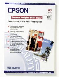 Epson Premium Semi-Gloss Photo A3 Pack20