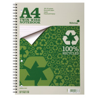 Silvine A4 Recycled Twinwire Nbook PK12