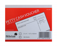 Petty Cash Pad 5x4in PK24