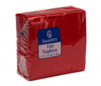 Value Maxima Napkins 2-Ply 330mm x 330mm (Red) (Pack 100)