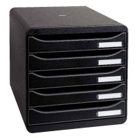 Exacompta Multiform A4 Big Box Plus 5-Drawer Set Black