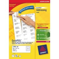 Avery L7160-100 63.5x38.1mm QuickPEEL Laser Labels PK2100