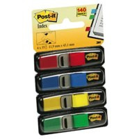 Post-it Index Flags 12mm 140 Tabs 4 Assortd Colours 683-4