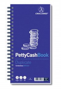 Challenge Petty Cash Book 280 x 141mm 200 Duplicate Slips 100080052