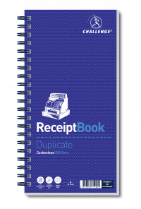 Challenge Receipt Book Duplicate Carbonless 200 Sets 280 x 141mm 100080056