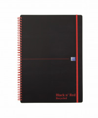Black n Red A4 Wirebound Polypropylene Recycled Notebook 140 Pages (Pack of 5) 846350973