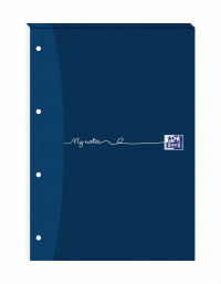 Oxford My Notes A4 Refill Pad Ruled Margin 160 Pages Headbound (Pack of 5) 846400177