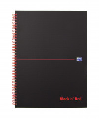 Black n' Red Smart Ruled Wirebound Hardback Notebook 140 Pages A4+ (Pack of 5) 846364903