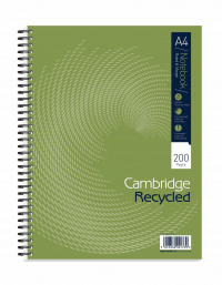 Cambridge Recycled A4 Plus Wirebound Notebook 200 Pages Pack of 3 100080423