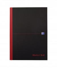 Black n' Red Smart Ruled Casebound Hardback Notebook A4 100080428