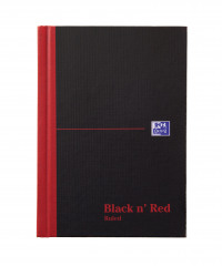 Black n' Red Casebound Hardback Notebook 192 Pages A6 (Pack of 5) 100080429