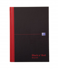 Black n' Red Ruled Recycled Casebound Hardback Notebook 192 Pages A5 (Pack of 5) 100080430