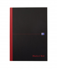 Black n Red A4 Casebound Hardback A-Z Notebook Pack of 5 100080432