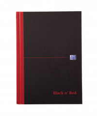 Black n Red A5 Casebound Hardback Notebook 192 Pages Pack of 5 100080459