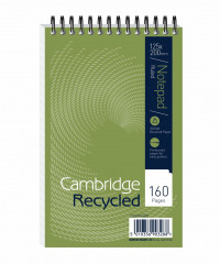 Cambridge Recycled 125 x 200mm Wirebound Notebook (Pack of 10) 100080468