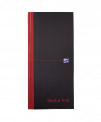 Black n Red Casebound Hardback Notebook 297 x 140mm Ruled (Pack of 5) 100080528