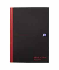 Black n' Red Recycled Casebound Hardback Notebook 192 Pages A4 (Pack of 5) 100080530