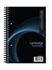 Cambridge Notebook 200 Page Wirebound Feint & Margin A5 Ref 100082372 [Pack 3]