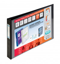 Elba Vision A3 4D-Ring Binder 30mm Oblong Black 400000113