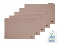 Elba Tabbed Folder Economy 170gsm Foolscap Buff (Pack of 100) 100090124